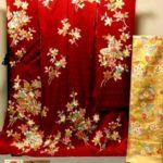 千總(ちそう)赤色振袖・川島織物金色帯セットが安い!