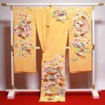 千總(ちそう)黄色振袖17点セット現品限り福袋より安い!