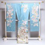 成人式に「染の北川」古典柄振袖(水色)が20万円以下!