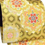 成人式に!福袋より安い!藤原織物ゴールド唐織振袖帯
