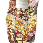 成人式に青柳の古典柄紫色振袖が安い!合わせる唐織振袖帯!