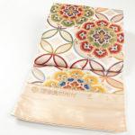 黄色の古典柄振袖に!河合美術織物の唐織帯が相場の半額で購入!