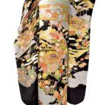 古典柄黒色振袖と川島織物振袖帯セットがレンタルより安い15万円!