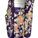 古典柄青紫色振袖が安い!成人式におすすめ!呉服セール相場は