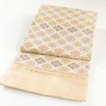 30代色無地におすすめ!河合美術織物唐織袋帯が安い!53800円!