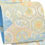 20代訪問着に藤原織物の唐織袋帯(ブルー)が相場より安い!