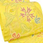 大島紬や久米島紬に!帯屋捨松の九寸名古屋帯黄色が相場の値段より激安。