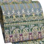 更紗柄の小紋や訪問着ににおすすめ!大島紬地染め袋帯が10万円以下!