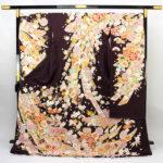 古典柄京友禅振袖(紫色)が激安88000円仕立て無料!成人式に!振袖帯は?