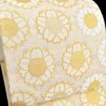 色留袖におすすめ!モダンな八重さくら柄唐織袋帯が相場より安い!