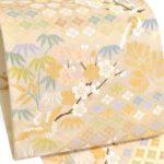 40代におすすめ!山口美術織物の唐織袋帯(白)が値段相場の半額!