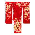手挿し京友禅の古典柄振袖(赤色)が相場より安く購入!川島織物振袖帯も