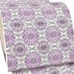 泥染めの大島紬におすすめ!博多紋織8寸帯(紫色)が相場より安い!40代に!