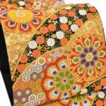 成人式に河合美術織物の唐織振袖帯中古品が激安!ママ振袖におすすめ!相場より20万円安い!