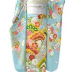 ちそう振袖(水色)を安く買う方法!合わせる川島織物振袖帯(黒・ベージュ)