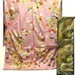 千總振袖ピンク色と川島織物振袖帯セットが相場より50万円安い