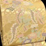50代留袖におすすめ!手織り引き箔地の唐織袋帯(金色))が安い!画像付き