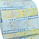 帯屋捨松真綿紬八寸名古屋帯(水色)安く買う!泥染め大島紬におすすめ!