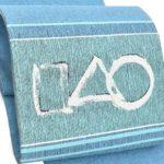 大島紬や結城紬に渡文のモダンな手織り袋帯(薄青色)がおすすめ!画像付き