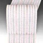 本場筑前博多織紗献上夏帯が安い(ピンク・紫色)有松絞ゆかたや夏牛首紬に!