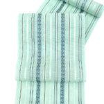 青磁色の博多織夏帯が安い!夏紬や有松絞り呼吸浴衣におすすめ!黒木織物紗献上柄