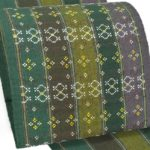 手織り草木染のセンスある南風原花織八寸帯が安い!50代紬の着物に大城工房