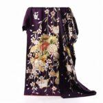 舞台衣装に!濃い紫刺繍振袖(枝垂桜柄)相場の半額!画像あり